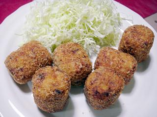 里芋コロッケ&さつま芋の煮物