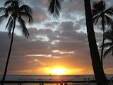 ハワイ夕日
