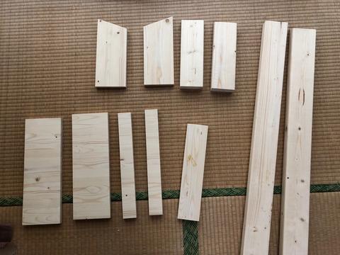 郵便ポストの木材一式