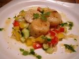 グリル帆立貝とカラフル野菜のアジアンマリネ