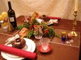 クリスマステーブルコーデ全体