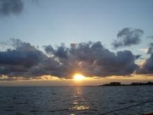◎ラプラタ河の夕日