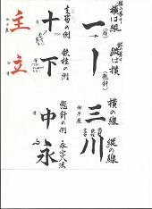 楷書の基礎chibi