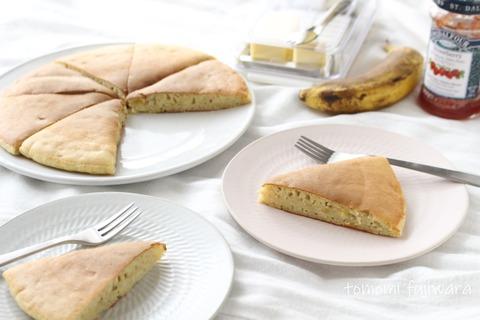 完熟バナナのホットケーキ (3)n