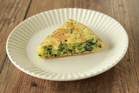 【ホットケーキミックスで簡単】ほうれん草とチーズのケーキ (3)