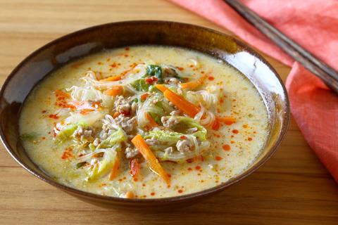【スープ】あごま坦々春雨スープ (2)