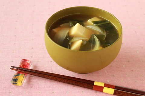 高野豆腐のみそ汁 (3)