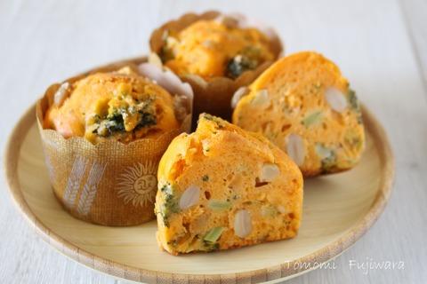 【ケークサレ】大豆とブロッコリーのトマトマフィン (10)n