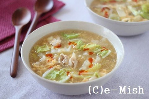 白菜たっぷり酸辣湯 (6)_R