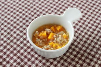 かぼちゃのそぼろ煮(離乳食)
