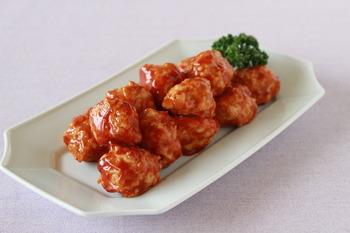 【鶏ひき肉】揚げないミートボール (10)
