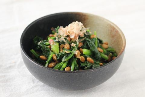 ほうれん草の納豆和え (8)
