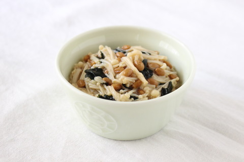 えのきと納豆の海苔ポン和え (2)