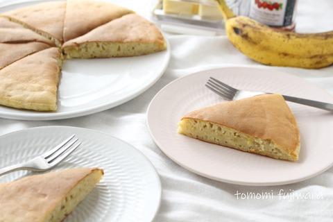 完熟バナナのホットケーキ (4)n