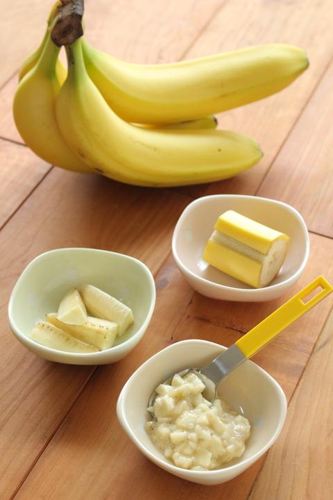 離乳食 バナナの切り方 (2)