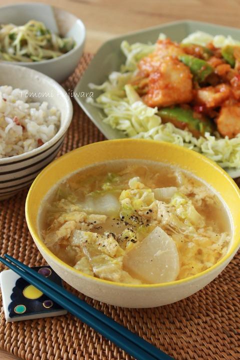 白菜と大根の中華スープ (2)n