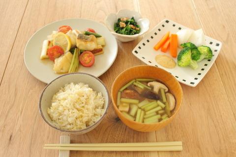タラと長ねぎのレモン醤油炒め (2)