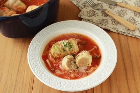 ジュワ旨~♪簡単!ロール白菜のトマト煮込み (6)