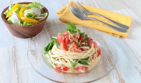 トマトとツナの冷製パスタ (5)r