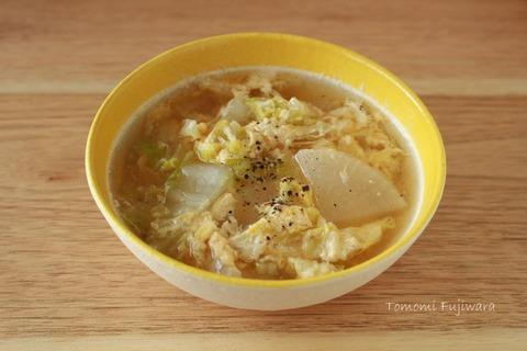 白菜と大根の中華スープ (3)n