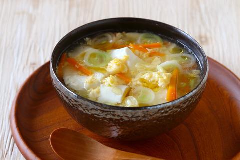 【スープ】くずし豆腐と刻みねぎのとろーり卵スープ (1)