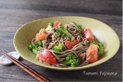 ツナとトマトのサラダ蕎麦 (3)n