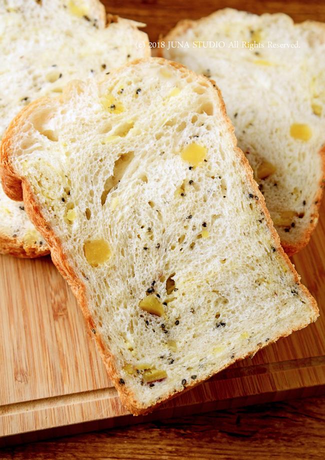 【HBレシピ】朝ごパンに♪ さつまいもと黒ゴマのもちもち食パン