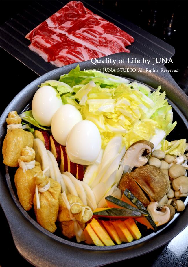 少ない牛肉でも満足できるすき焼き風鍋(すき焼き専科使用)/漬けまぐろを作っている時に起きた事件w