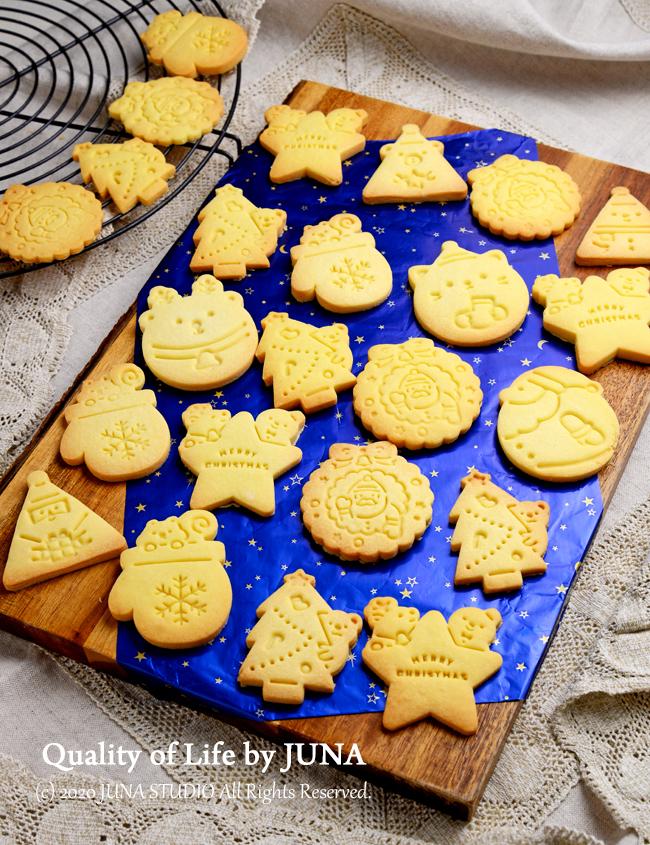 【クリスマスクッキー】スタンプ型で私でもかわいいのができたw/娘と一緒にお風呂掃除♪