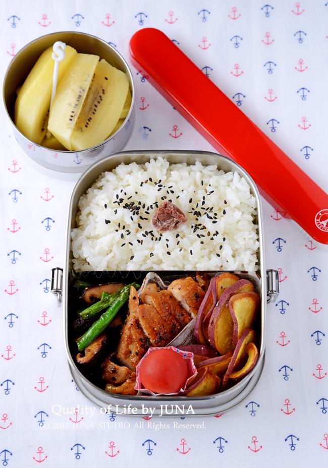 【今日のおべんと】鶏の照り焼き弁当