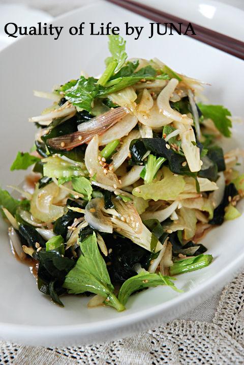 香味野菜でしゃきしゃきサラダ
