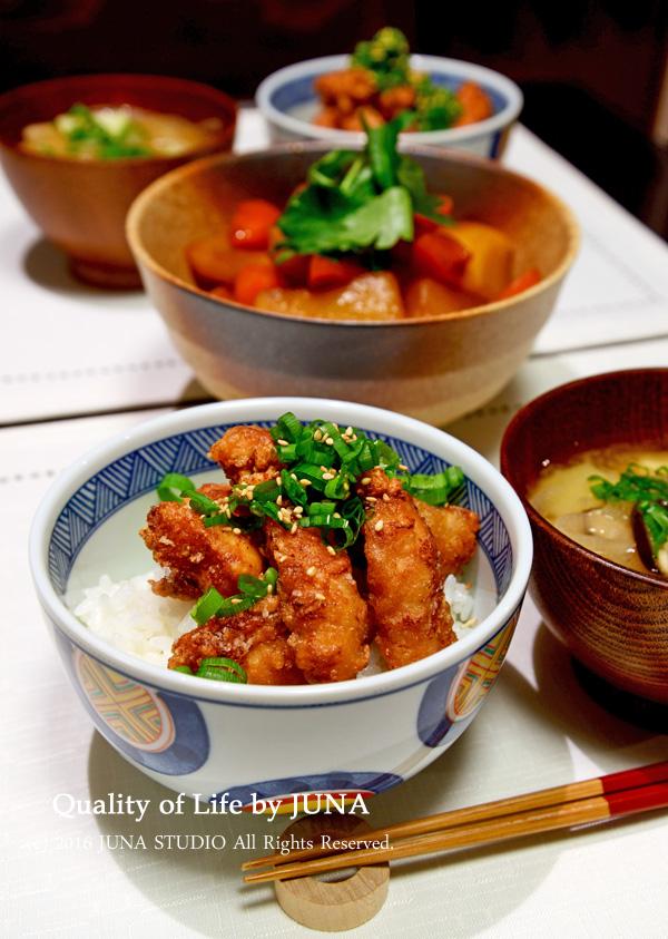 ささみの中華風から揚げ丼