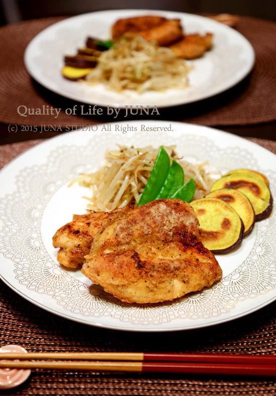 鶏むね肉のカリカリブラックペッパー焼き