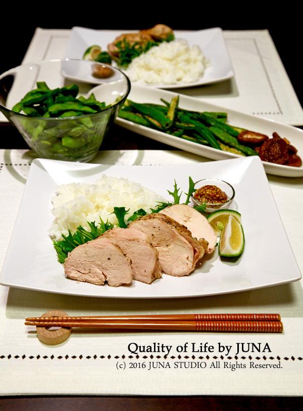 【タイガーtacookレシピ】ジューシー鶏むね肉&ごはん