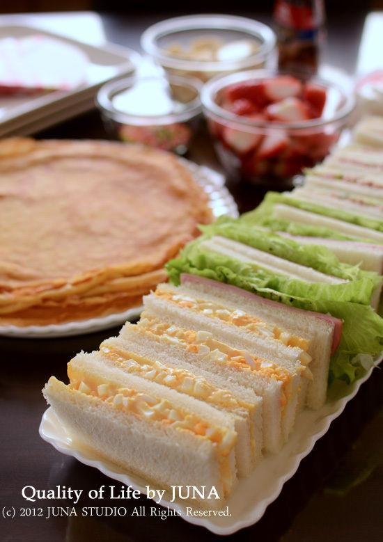 クレープ&サンドイッチのランチ