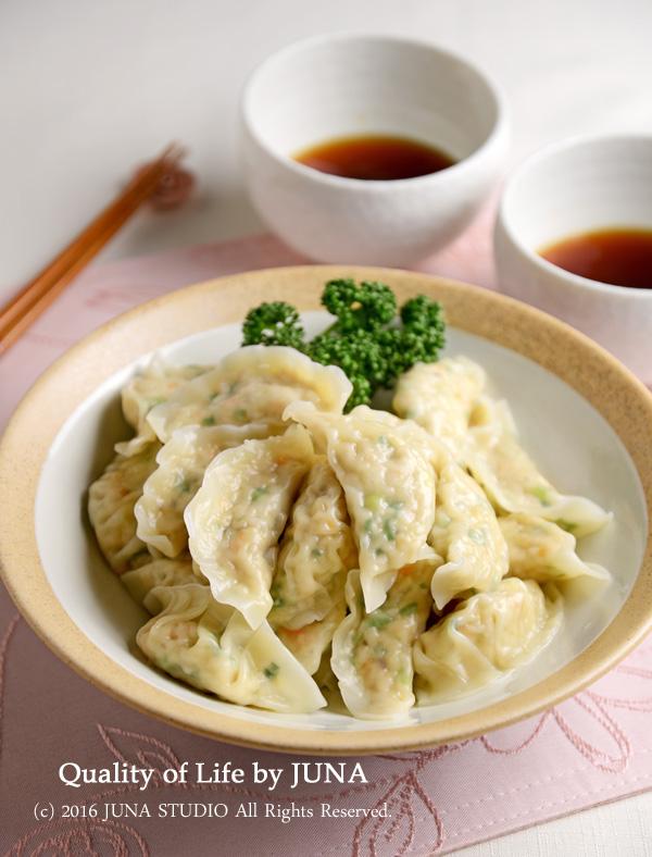 母の日に☆野菜たっぷりヘルシー水餃子