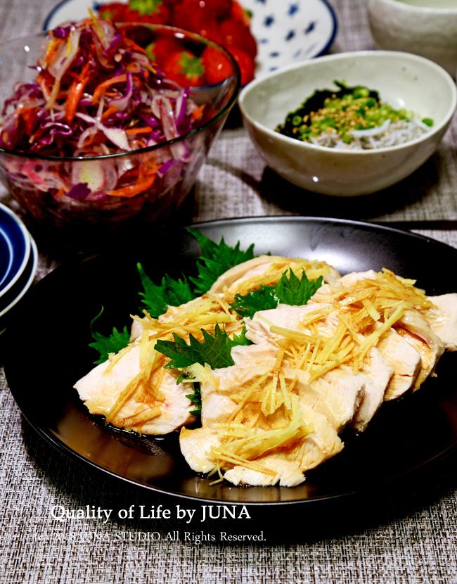 ゆで鶏でいつもの夕飯→グラタンに