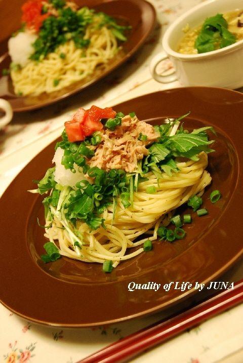 パスタで「和食」~お箸で食べるツナスパ~