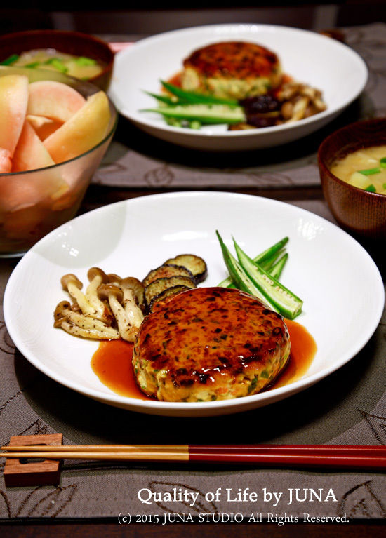 豆腐ハンバーグとお弁当