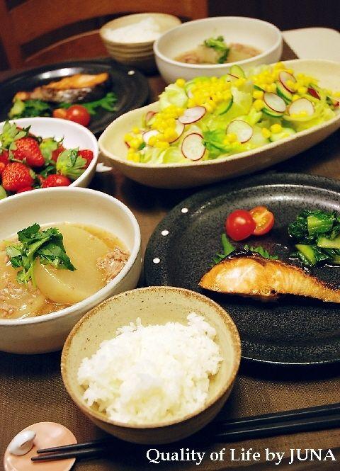 大根のトロトロ煮柚子風味 と他、和食の献立