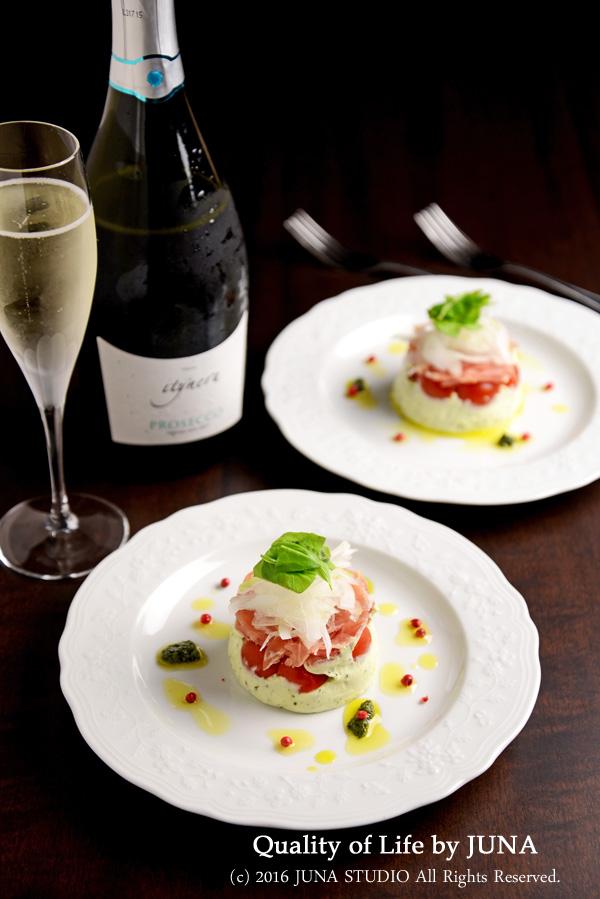【ワインにあうおつまみレシピ】生ハム&バジルチーズの前菜
