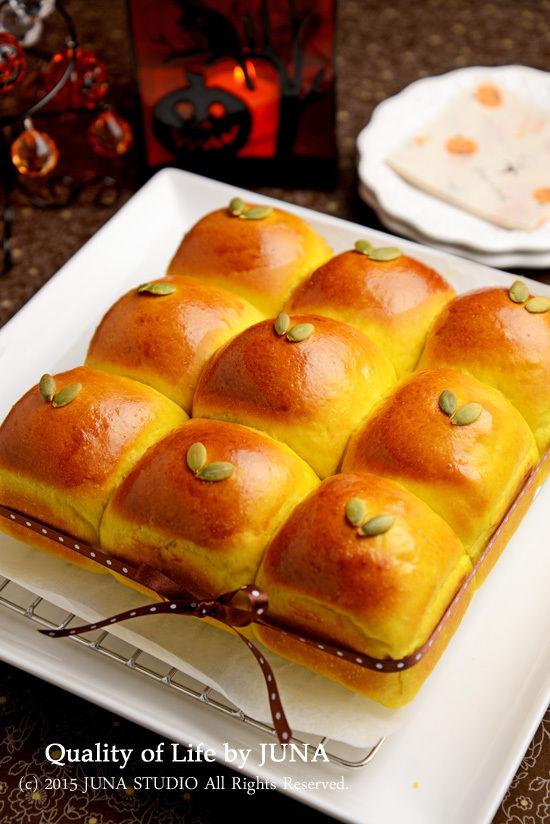 食事のおともに☆かぼちゃのツルピカちぎりパン