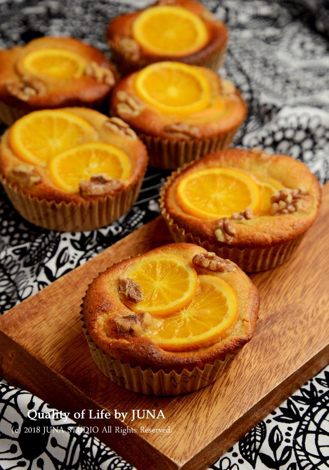 【ぐる混ぜ簡単レシピ】グルテンフリー☆甘さ控えめ☆大豆粉で作るオレンジカップケーキ