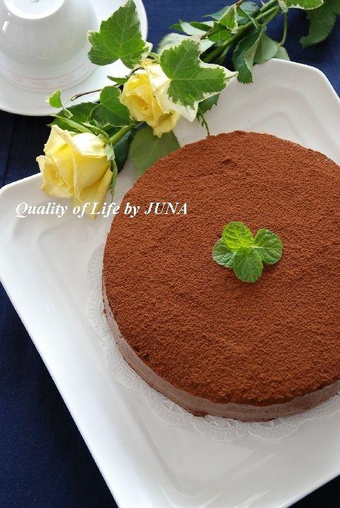 オレンジ風味のガナッシュチョコレートケーキ