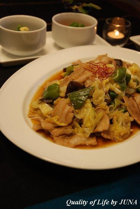週末は中華風な食卓で☆回鍋肉もどきと中華スープ&生じらす