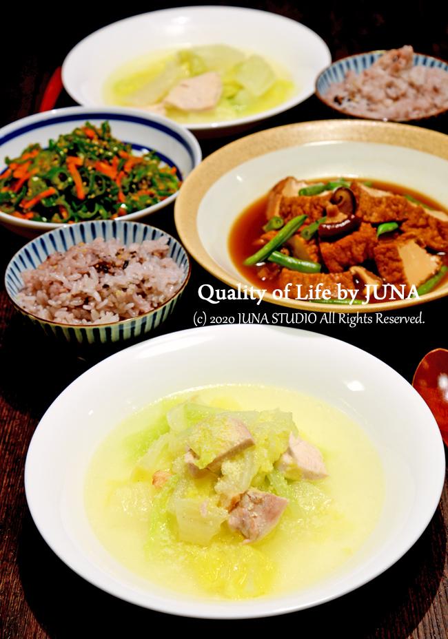 白菜と鶏むね肉のごくうま塩スープ