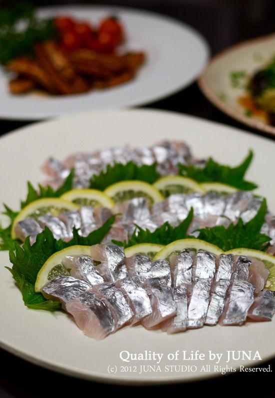 太刀魚のお刺身 と 成人の日