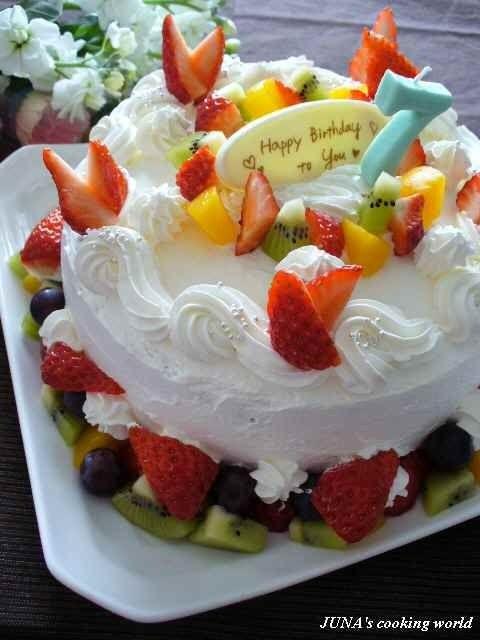 娘の誕生日~フルーツケーキ~