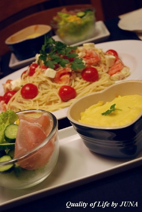 ホクホクのポテトスフレ&クリームチーズとツナのジェノベーゼ のはずがっ!