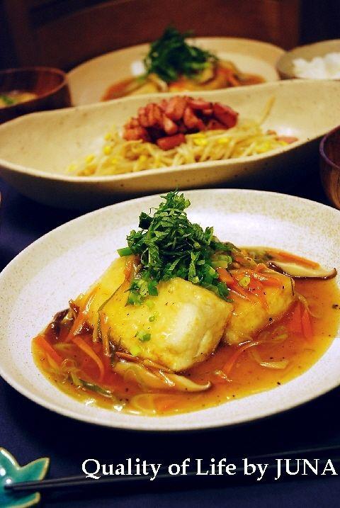 ヘルシー☆あんかけ豆腐ステーキ